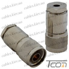 Штекер N под кабель (RG-58), латунь (Тип 1), Tcom