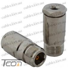 "Гнездо N ""Tcom"" под кабель (RG-58), латунь (Тип 2)"