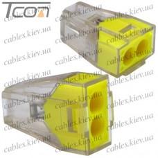 """Экспресс-клемма для распределительных коробок """"WAGO 773-322"""" на 2 проводника, 220В, 25А, 1-2,5 мм. кв."""