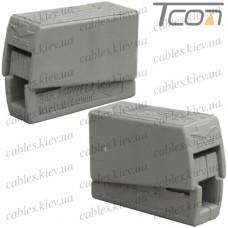 Клемма для подключения светильников PCT-111 (типа WAGO 224) 250В, 24А, 1-2,5мм.кв., Tcom