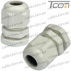 Пластиковый кабельный ввод диам.-5-10мм, PG-11, Tcom