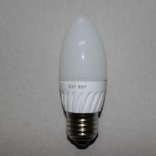 Лампочка светодиодная 220В, 5Вт, Е27, 6500K, холодный свет, диам.-37мм
