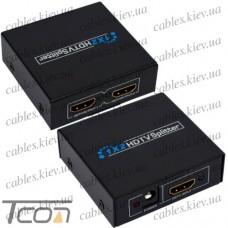 Разветвитель (сплитер) HDMI (1 гнездо HDMI - 2 гнезда HDMI), DC-5V, Tcom