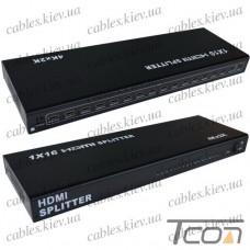 Разветвитель (сплитер) HDMI (1 гнездо HDMI - 16 гнезд HDMI), 1.4V, DC-5V, Tcom