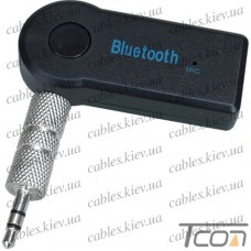 Адаптер автомобильный Bluetooth AUX, 3.5мм стерео, с микрофоном