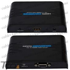 Конвертор VGA в HDMI (гнездо VGA - гнездо HDMI) 1080Р, Tcom
