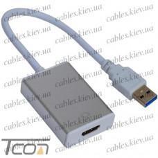 Конвертор USB 3.0 в HDMI (штекер USB A - гнездо HDMI), Tcom