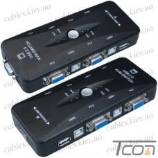 KVM-переключатель 4-port USB, Tcom