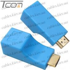 Устройство для передачи HDMI по двум кабелям витая пара до 30 метров, Tcom
