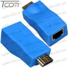 HDMI удлинитель по одному кабелю витая пара до 30 метров