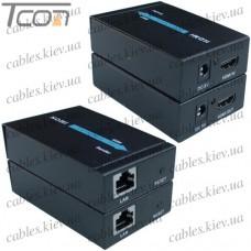 HDMI удлинитель по одному кабелю витая пара до 60 метров, Tcom
