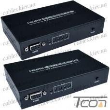 Удлинитель HDMI по витой паре с роутером (sender + receiver) GC-374, Tcom