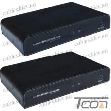Удлинитель HDMI по витой паре (sender + receiver) (GC-383pro), Tcom