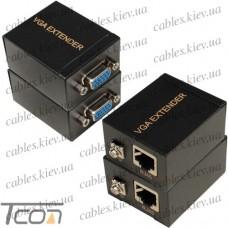 Удлинитель VGA по кабелю витая пара до 60 метров