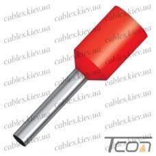 Кабельный наконечник трубчатый с изоляцией 1,5кв.мм,(100шт.) (Е1510), Tcom