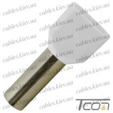 Кабельный наконечник трубчатый с изоляцией двойной 2х0,5кв.мм (100шт.) (ТЕ-0508), Tcom