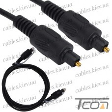 Шнур оптический (toslink plug - toslink plug) диам.-4мм, 1,5метра, Tcom