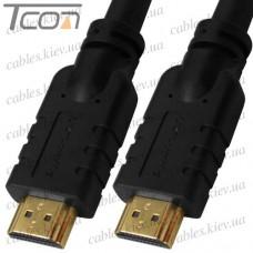 "Шнур HDMI ""ULT-unite"" (шт.- шт.) version 2.0, gold, 8м, чёрный, в коробке"