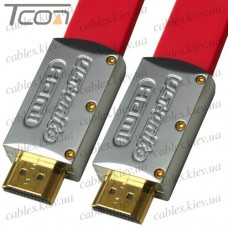 "Шнур HDMI ""ULT-unite"" (шт.- шт.) version 2.0, металл.gold, 5м, красный, в коробке"