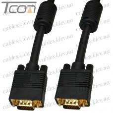 """Шнур VGA """"ULT-unite"""" (шт.- шт.), 3+9, с фильтрами, gold, 25м, чёрный, в коробке"""