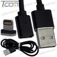 Шнур магнитный штекер USB А - штекер iPhone, съёмный, на магните, 1 метр, Tcom