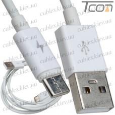 Шнур штекер USB тип С - штекер USB тип А, v.3.0, 1,5м, чёрный, Tcom