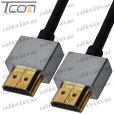 "Шнур HDMI (штекер-штекер), v.1.4, ""позолоченный"", диам.-4,2мм, в блистере, 2м, Ultra Slim"