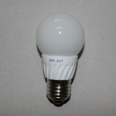 Лампочка светодиодная 220В, 5Вт, Е27, 6500K, холодный свет, диам.-50мм