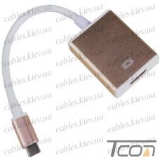 Переходник штекер USB type C 4K x 2K - гнездо HDMI, 15см, Tcom