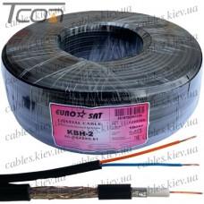"""Кабель для систем видеонаблюдения (3C2V) """"EUROSAT"""", комбинированный, медный, (32%), чёрный, 100м"""