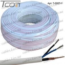 Кабель для систем видеонаблюдения 2C2V комбинированный, медный, (64%), белый, 100м, MATRIX
