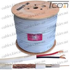 Кабель для систем видеонаблюдения (RG-59) комбинированный, медный, (64%), белый, 305м, EUROSAT