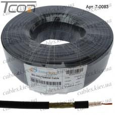 """Кабель коаксиальный RG-58С/U """"CommSpace"""", многожильный, медь, (112%), чёрный, 100м"""