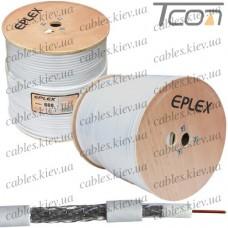 """Кабель коаксиальный RG-6 (F660BV) """"EPLEX"""", одножильный, лужёная сталь, (64%), белый, 305м"""