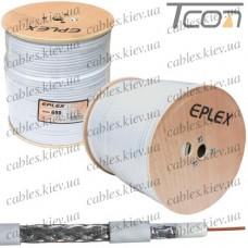 Кабель коаксиальный RG-6U (series 690) одножильный, лужёная сталь, (96%), белый, 305м, EPLEX
