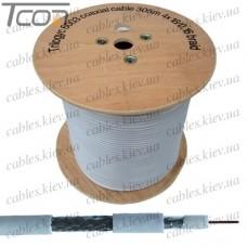 Кабель коаксиальный RG-6 TY6003 одножильный, лужёная сталь, 64%), белый, 305м, TRILOGYC