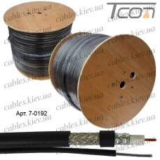 """Кабель коаксиальный RG-11 (F1160BVM) """"EUROSAT"""", одножильный, лужёная сталь, (96%), чёрный, 305м"""