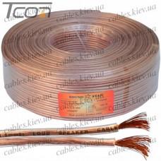 Кабель акустический, медный, 2х2,5мм.кв., прозрачный, 100м, Sound Star