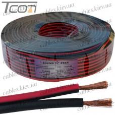 Кабель питания, медный, 1,3мм.кв., красно-чёрный, 100м, Sound Star