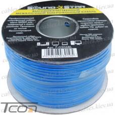Кабель микрофонный  2 жилы, диам.-6 мм (В-01), синий, на катушке, 100м, Sound Stream
