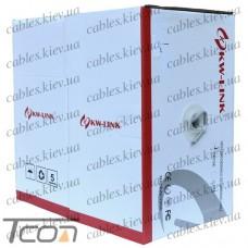 Кабель компьютерный витая пара FTP Cat.5e 4x2x(0,51CU), диам.-6,3мм, серый, 305м, KW-Link