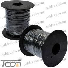 """Упаковочная проволока в ПВХ изоляции """"Tcom"""", чёрная, на пластиковой катушке - 250м"""