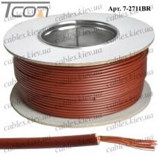 Провод монтажный ПВ-3 (0,35кв.мм.), алюминиево-медный, 100м, коричневый