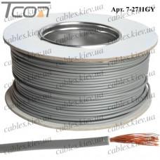 Провод монтажный ПВ-3 (0,35кв.мм.), алюминиево-медный, 100м, серый