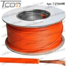 Провод монтажный ПВ-3 (0,35кв.мм.), алюминиево-медный, 100м, оранжевый