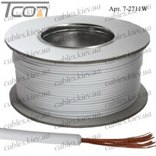 Провод монтажный ПВ-3 (0,35кв.мм.), алюминиево-медный, 100м, белый