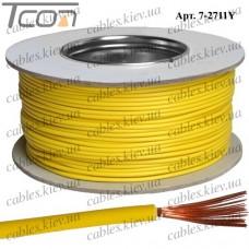 Провод монтажный ПВ-3 (0,35кв.мм.), алюминиево-медный, 100м, жёлтый