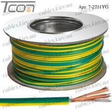 Провод монтажный ПВ-3 (0,35кв.мм.), алюминиево-медный, 100м, жёлто-зелёный