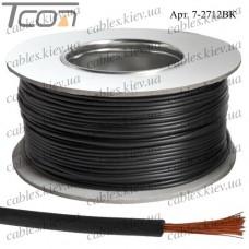 Провод монтажный ПВ-3 (0,50кв.мм.), алюминиево-медный, 100м, чёрный
