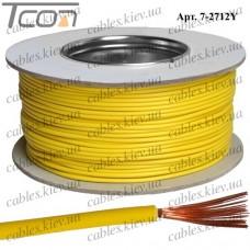 Провод монтажный ПВ-3 (0,50кв.мм.), алюминиево-медный, 100м, жёлтый